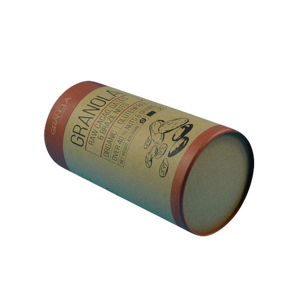 Customized Biodegradable Kraft Paper Push Up Tube For Tea 0