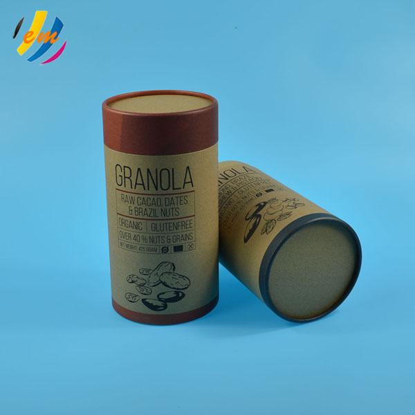 Customized Biodegradable Kraft Paper Push Up Tube For Tea 1
